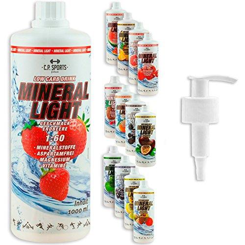 C.P. Sports Mineral Light Getränke Sirup Electrolyte Konzentrat 1 Liter Apfel inkl. DOSIERSPENDER
