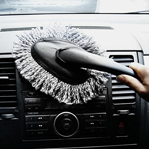 Multi-functional Car Duster Cleaning Dirt Dust Clean Brush Dusting Tool Mop Gray car cleaning products Brand - Accessories Duster