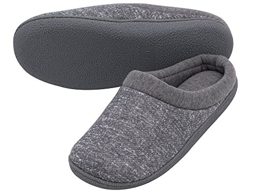 HomeTop Womens Comfort Slip On Memory Foam French Terry Lining Indoor Clog House Slippers