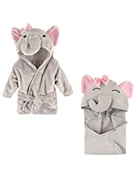 Hudson Baby Plush Animal Robe with Terry Hooded Towel, Girl Elephant BOBEBE Online Baby Store From New York to Miami and Los Angeles