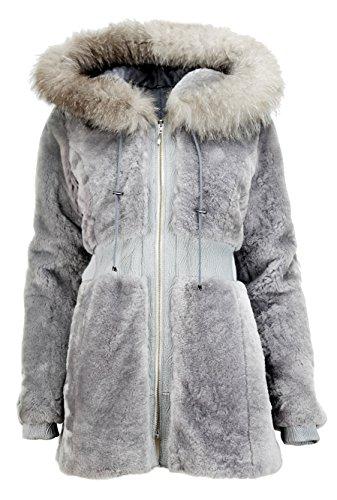 DX-Exclusive wear - Chaqueta - cintura - para mujer gris