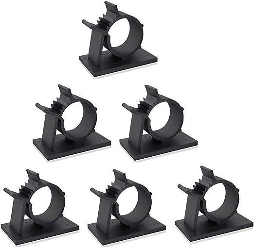 Gasea 60 paquetes de sujetadores de cable ajustables soporte de ...