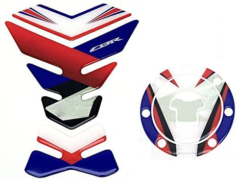 White Motorcycle Sticker Decal Gas Fuel Tank Protector Pad For Honda CBR Firedblade