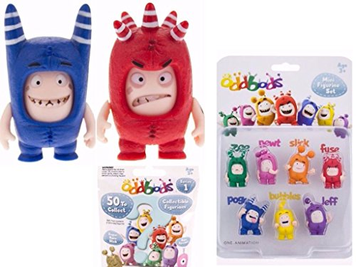 c233502a738 Oddbods Stocking Filler - 2 x Face Changers, 1 Blind Bag & Mini Figurine  Set - 4 Items Included (Dispatched From UK), Figures - Amazon Canada