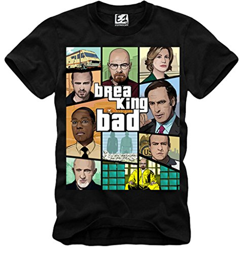 E1SYNDICATE MENS T-SHIRT BREAKING BAD HEISENBERG BETTER C...