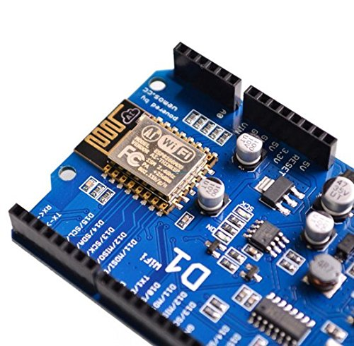 [initeq] 2 Pack D1 WIFI Development Board ESP-12 ESP8266 Arduino UNO Size, with Power Connector Pigtail by initeq (Image #3)
