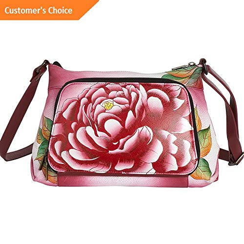 Amazon.com: Sandover ANNA by Anuschka Hand Painted Crossbody Organizer Cross-Body Bag NEW | Model LGGG - 1717 |