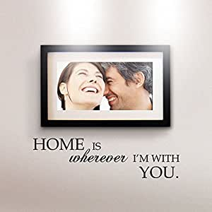 MairGwall Home is wherever I'm with you - Vinyl Wall Decal Art Sticker Home D¨¦cor (White, Large)