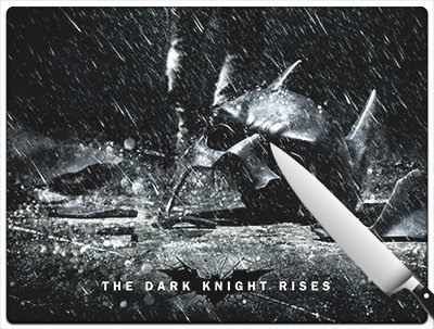 Movie Poster 75 - The Dark Knight Rises - Batman Standard Cutting Board by Kitchen accents
