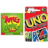 Apples to Apples Junior - The Game of Crazy Combinations! and Uno Card Game Bundle