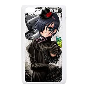 ipod 4 White Black Butler phone case Christmas Gifts&Gift Attractive Phone Case HLR500324418