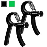 iheartsynergee Pair of Jet Black Hand Gripper – The Best Hand Exerciser Grip Strengthener Adjustable Resistance Range 22 to 88 Lbs Review