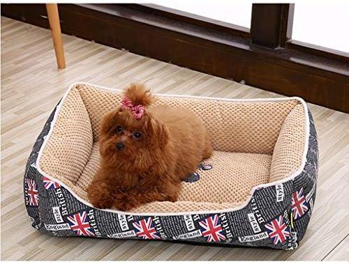犬猫ソファベッド、 猫ベッド/犬のベッドクッションソファ/ノンスリップ防水ボトム/耐久性/取り外し可能なウォッシャブル/ブラック、ピンク、ブラウン (Color : Brown, Size : L)