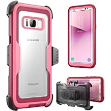 i-Blason Galaxy S8 Case, [Armorbox]  [Full body] [Heavy Duty Protection ] Shock Reduction / Bumper Case WITHOUT Screen Protector for Samsung Galaxy S8 2017 Release (Pink)