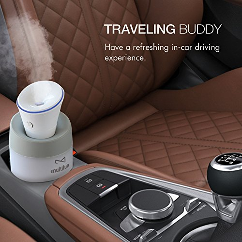 USB Humidifier, multifun Portable Mini Humidifier, Car Humidifier with Auto Shut-off, Multi Use for Travel Office Desk Desktop Car Small Baby Bedroom with Water Bottle by multifun (Image #7)