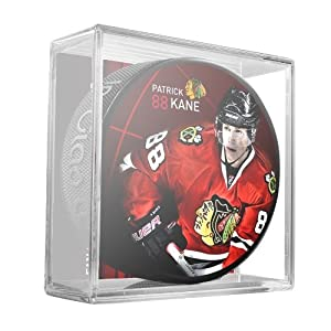 Sher-Wood Patrick Kane Chicago Blackhawks Star Player NHL Puck