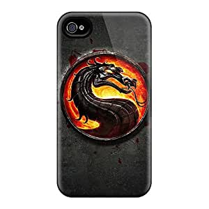 For Iphone 4/4s Premium Tpu Case Cover Mortal Kombat Protective Case