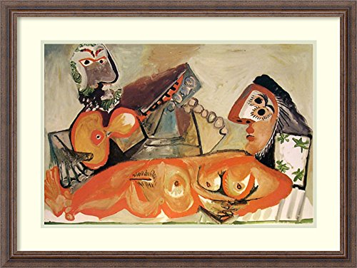 Framed Art Print 'Laying Nude and Musician' by Pablo Picasso