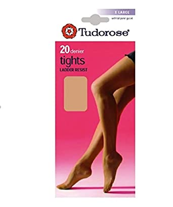 18bda266442 Ladies Tudorose 20 Denier Ladder Resist Tights Black 12 Pairs Medium