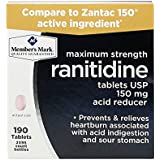 Member's Mark Maximum Strength Ranitidine Tablets USP 150mg Acid Reducer (4 bottles (380 tablets))