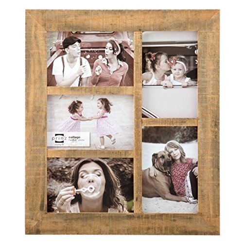 PRINZ 5 Opening Sullivan Pallet Wood Collage Frame, 4 x 6, G