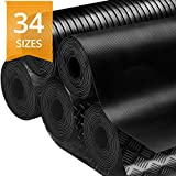 casa pura Rubber Floor Mat Anti Slip  Suitable as Garage Floor Mat Horse Stall Mat or Workbench Mat  Many Sizes to Choose from  Coin Rubber Sheet  1 8 Thick 40 x 9