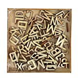 "Craft Sensations Wooden Letters, Natural, Pack of 104, 0.5"" x 0.4"""
