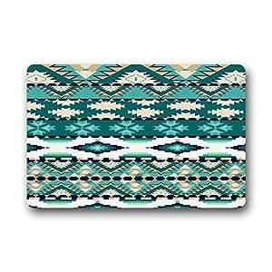 Woyua Aztec Doormat Outside Non-woven Fabric Door Mats Non-slip Entrance Mat 23.6 x 15.7inch