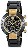 Versace Women's SC09 Reve Black Dial Chronograph Black Ceramic Bracelet Watch 95CCP9D008