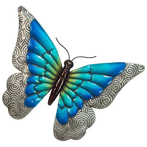 Butterfly Wall Decor - 3D Metal Design - Hand-Painted - 16