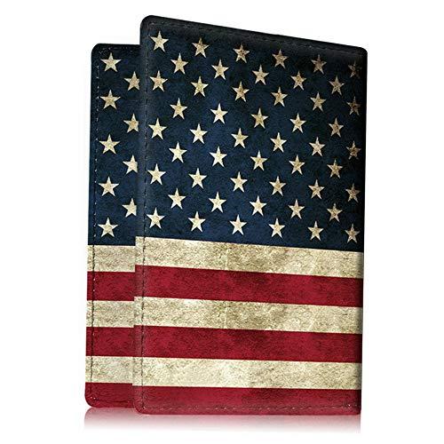 Mikash Travel Passport Holder Wallet Holder RFID Blocking Vegan Leather Card Case Cover | Model TRVLWLLT - 5 |