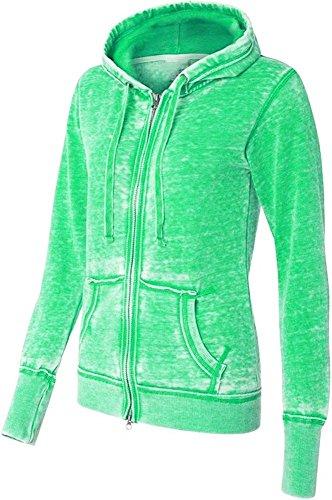 Yoga Jacket Athletic Burnout Fleece