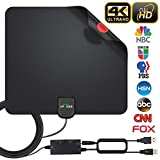 HDTV Antenna, 2019 Newest Indoor Digital TV Antenna 120 Miles Range with Amplifier