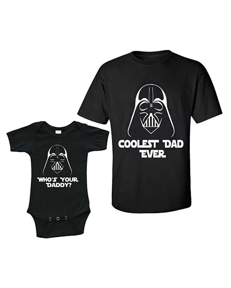 Matching Set -Coolest Dad Ever - Short Sleeve Infant Onesie & Adult T-Shirt 540003-$P
