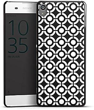Sony Xperia XA móvil Case Funda Móvil círculos blanco y negro retro: Amazon.es: Electrónica