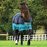 Horseware Mio Lite Turnout Sheet 78 Black/Turquois