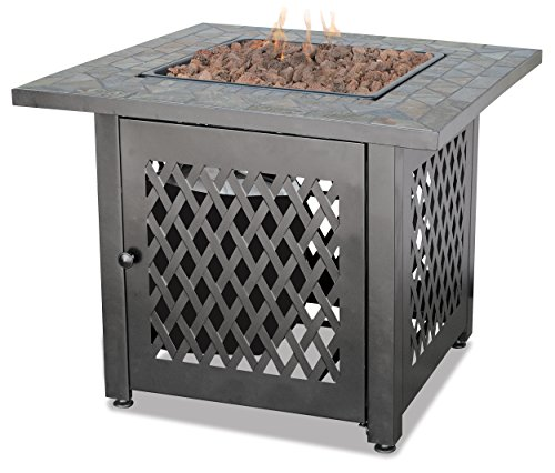 Endless Summer, GAD1429SP, Gas Outdoor Fireplace with Slate Mantel (Patio Fireplace)