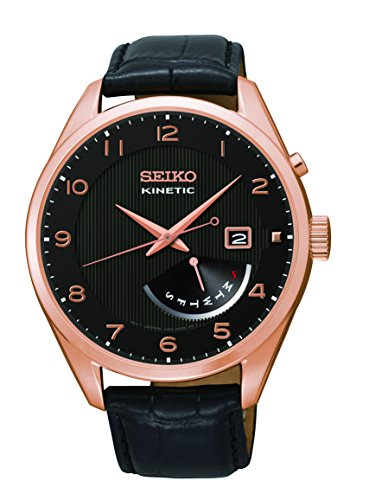 (Seiko Men's SRN054 Analog Display Japanese Quartz Black Watch)