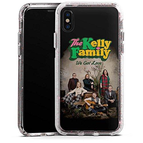 Apple iPhone X Bumper Hülle Bumper Case Glitzer Hülle The Kelly Family We Got Love Merchandise