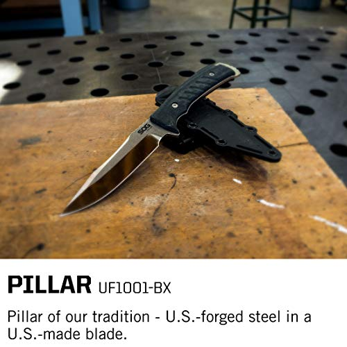 SOG Fixed Blade Knives with Sheath – Pillar USA Made Steel - Import