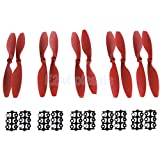5Pairs Carbon Fiber propeller prop CW/CCW 1045 For Quadcopter Helicopter Red