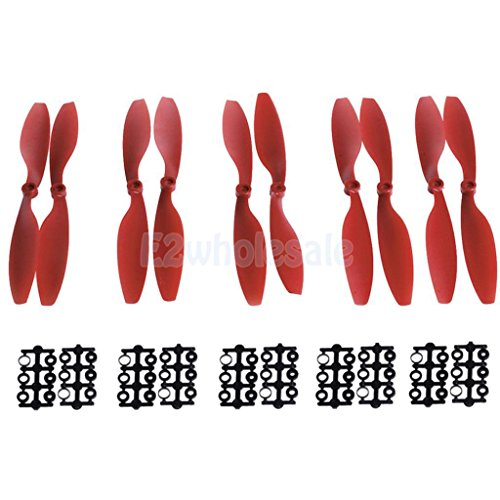 5Pairs Carbon Fiber propeller prop CW/CCW 1045 For Quadcopter Helicopter Red by e2wholesale
