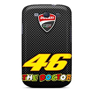 VIVIENRowland Samsung Galaxy S3 High Quality Cell-phone Hard Cover Allow Personal Design High Resolution Valentino Rossi Pictures [BpD2219Nyek]