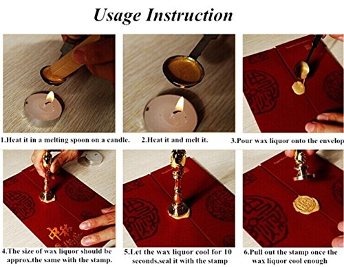 Aokbean 10pcs Colors Flower Antique Carved Wax Sealing Sticks for Retro Vintage Wax Seal Stamp Without Wick Wine red
