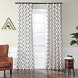 PTFFLK-C22B-84 Flocked Faux Silk Curtain, 50 x 84, Pavillion Pearl
