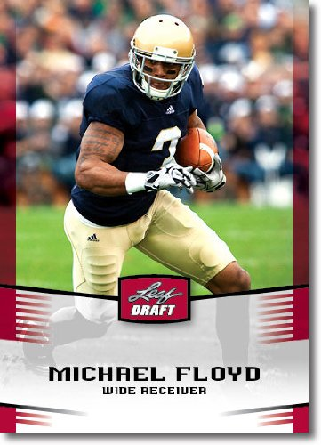 25 Count Lot 2012 Leaf NFL Draft Michael Floyd Rookies Notre Dame Gem Mint ()