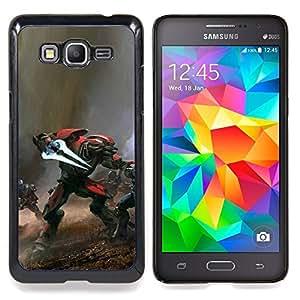 - Hal0 War - - Cubierta del caso de impacto con el patr??n Art Designs FOR Samsung Galaxy Grand Prime G530H G5308 Queen Pattern