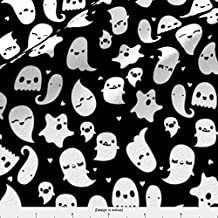 Ghosts Fabric Ghost Collection by Emandsprout Printed on Linen Cotton Canvas Ultra Fabric by the Yard by Spoonflower