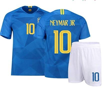 online store 70b72 19794 Amazon.com: LISIMKE Soccer Team 2018/19 Brazil Away Soccer ...