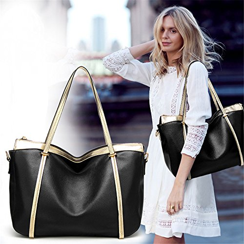 FangYOU1314 Black Shoulder Portable Diagonal Bag Litchi Retro Pattern Brown Big Color vrTwvq